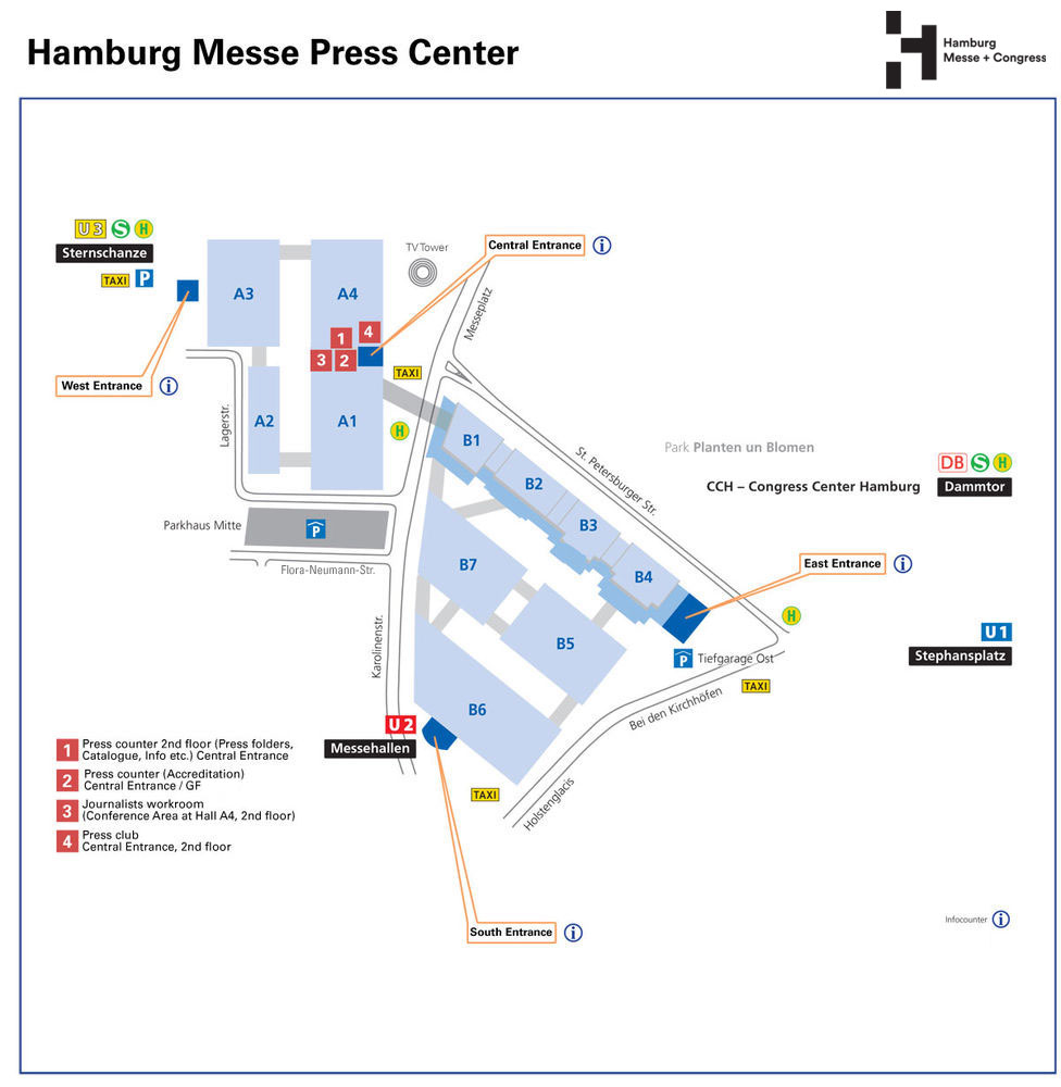 Hamburg Messe press center