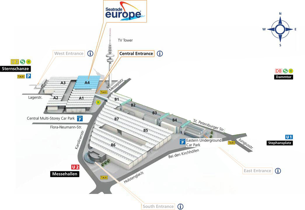 Area map / venue plan Seatrade Europe 2017